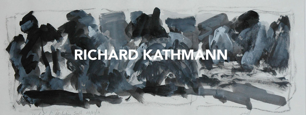 Richard Kathmann banner, graphic design by David Schell, Green Kill